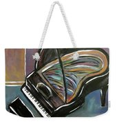 Piano With High Heel Weekender Tote Bag