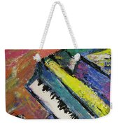 Piano With Yellow Weekender Tote Bag by Anita Burgermeister