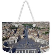 Piazza San Pietro And Colonnaded Square As Seen From The Dome Of Saint Peter's Basilica - Rome, Ital Weekender Tote Bag