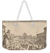 Piazza Ss. Annunziata, Florence Weekender Tote Bag