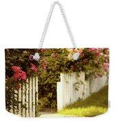 Picket Fence Roses Weekender Tote Bag