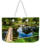 Picnic Area In The Marnel River I Weekender Tote Bag