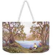 Picnic By A Lake Weekender Tote Bag