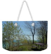 Picnic Table By The Lake Photo Weekender Tote Bag