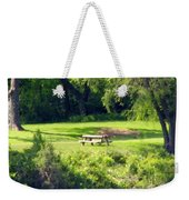 Picnic Table Weekender Tote Bag