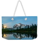 Picture Lake At Night Weekender Tote Bag