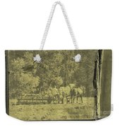 Picture Of Amish Boy In Book Weekender Tote Bag