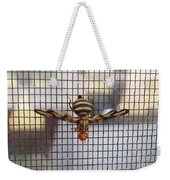 Picture Winged Bee Fly On Screen     Spring      Indiana Weekender Tote Bag