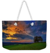 Picturesque Rural Sunset Weekender Tote Bag