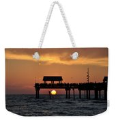 Pier 60 Clearwater Beach - Watching The Sunset Weekender Tote Bag