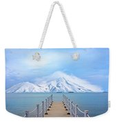 Pier And Mountain Weekender Tote Bag