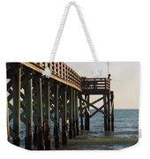 Pier, Flag, Fishing Weekender Tote Bag