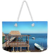 Pier In Champoton, Mexico Weekender Tote Bag