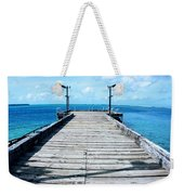Pier Into The Blue Weekender Tote Bag