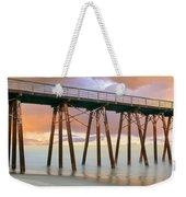 Pier On Beach During Sunrise, Playas De Weekender Tote Bag