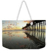 Pier Reflections - Sunset Weekender Tote Bag