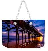 Pier Sunrise Weekender Tote Bag