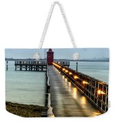 Pier With Lighthouse Weekender Tote Bag