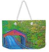 Pierce Stocking Covered Bridge In Sleeping Bear Dunes National Lakeshore-michigan Weekender Tote Bag