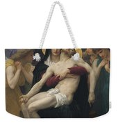Pieta Weekender Tote Bag by William-Adolphe Bouguereau