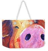 Pig On Purple I Weekender Tote Bag