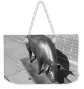 Pig Sculpture Grand Junction Co Weekender Tote Bag