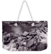 Pigeon Forge River Great Smoky Mountains Bw Weekender Tote Bag