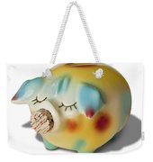 Piggy Weekender Tote Bag by Kelley King