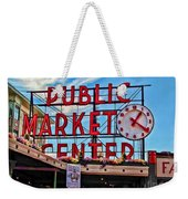 Pike Place Market Weekender Tote Bag