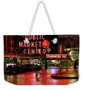 Pike Place Reflections Weekender Tote Bag