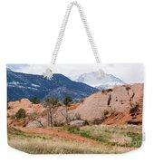 Pikes Peak From Red Rock Canyon Weekender Tote Bag