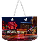 Pikes Place Market Weekender Tote Bag