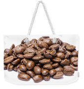 Pile Of Coffee Beans Isolated On White Weekender Tote Bag