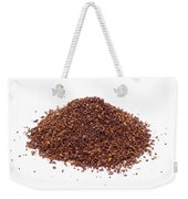 Pile Of Ground Coffee Isolated On White Weekender Tote Bag