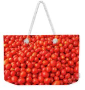 Pile Of Small Tomatos For Sale In Market Weekender Tote Bag
