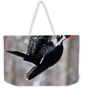 Pileated Billed Woodpecker Feeding 1 Weekender Tote Bag