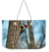 Pileated Billed Woodpecker Pecking 2 Weekender Tote Bag