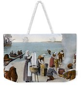 Pilgrims Washing Day, 1620 Weekender Tote Bag