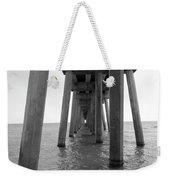 Black And White Pier Weekender Tote Bag