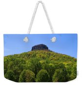 Pilot Mountain In Spring Green Weekender Tote Bag