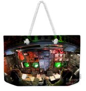 Pilots At The Controls Of A B-52 Weekender Tote Bag by Stocktrek Images