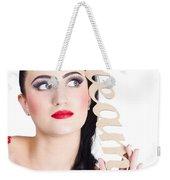 Pin Up Girl Daydreaming  Weekender Tote Bag