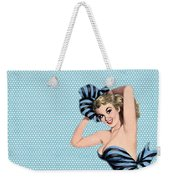 Pin Up Girl Square 2 Weekender Tote Bag