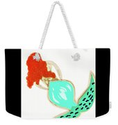 Pin Up Redhead Mermaid Weekender Tote Bag