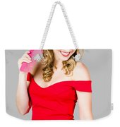 Pin-up Styled Fashion Model With Classic Hairstyle Weekender Tote Bag