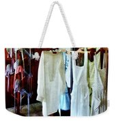 Pinafores And Bonnets In General Store Weekender Tote Bag by Susan Savad