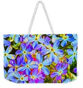 Pincushion Flower Weekender Tote Bag