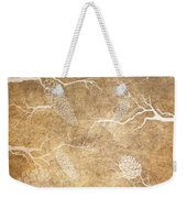 Pine Cone Shadows Weekender Tote Bag