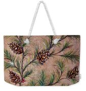 Pine Cones And Spruce Branches Weekender Tote Bag
