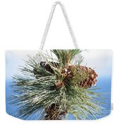 Pine Cones Over Lake Tahoe Weekender Tote Bag
